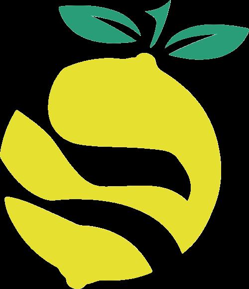 柠檬果汁矢量logo