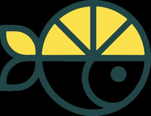 柠檬鱼柠檬汁矢量logo
