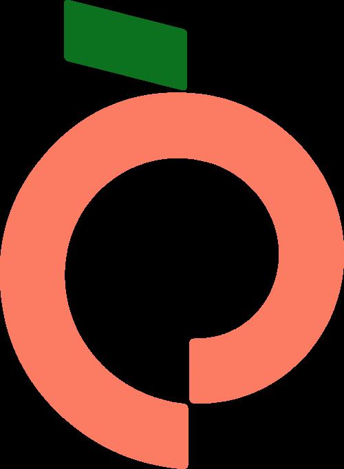 桃子水蜜桃水果矢量logo
