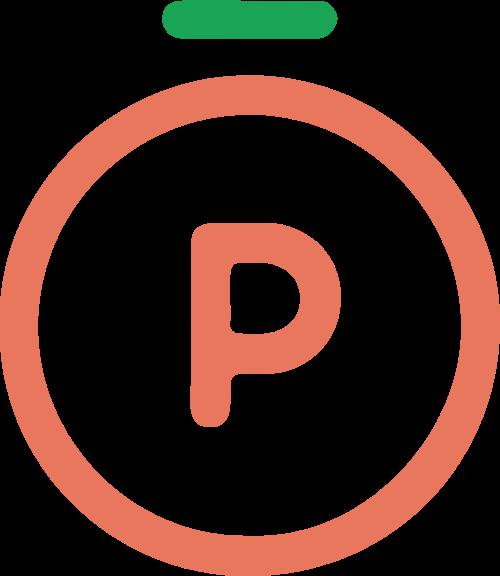 桃子水蜜桃水果字母P矢量logo