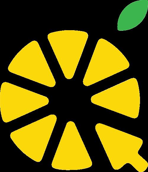 柠檬片箭头矢量logo