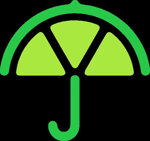 柠檬雨伞矢量logo
