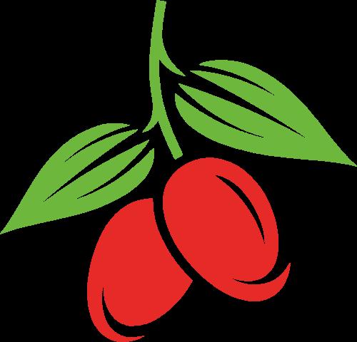 红枣水果矢量logo
