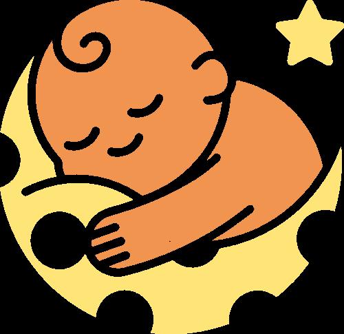 母婴儿童月亮矢量logo