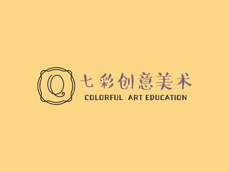 七彩创意美术LOGO设计