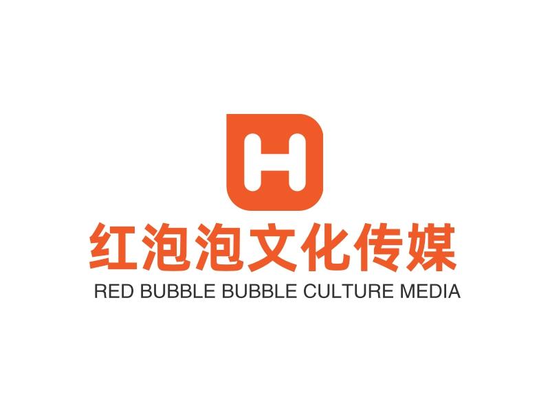 红泡泡文化传媒logo设计