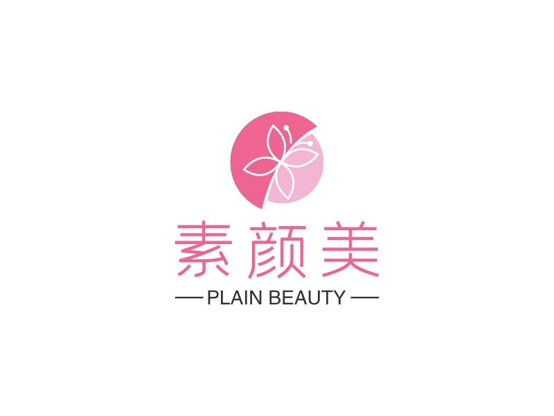 素颜美logo设计