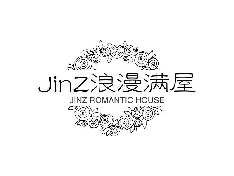 JinZ浪漫满屋logo设计