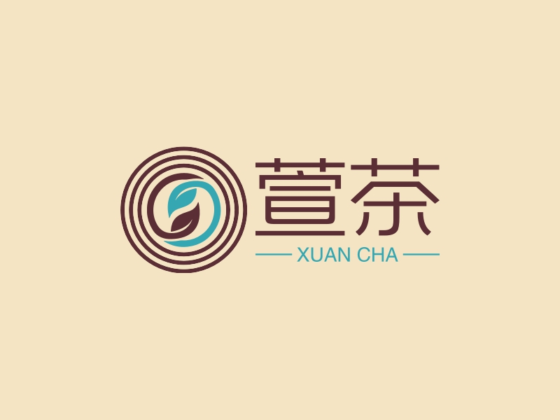 萱茶logo设计