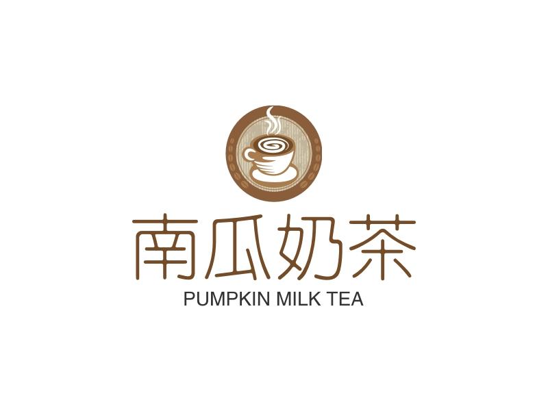南瓜奶茶logo设计